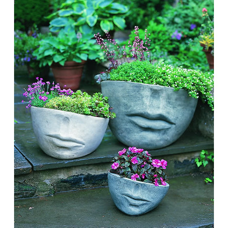 Faccia Small Face Planter - Greystone  (14 finishes available)