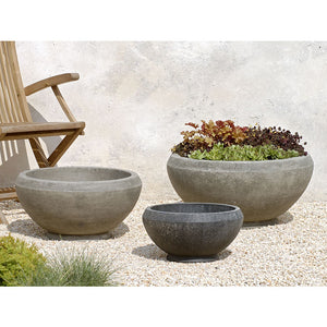 Giulia Medium Bowl Planter - Greystone  (14 finishes available)