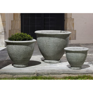 Berkeley Large Rimmed Planter - Alpine Stone  (14 finishes available)