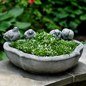 Bird Sculpture Planter - Alpine Stone Patina