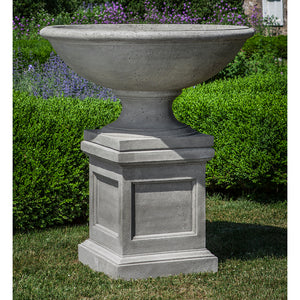 Large Footed Urn Stone Planter - Alpine Stone Patina