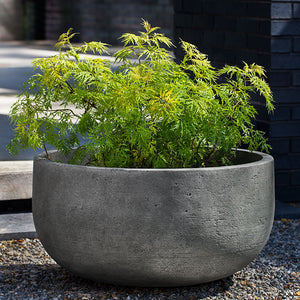 Tribeca Low Barrel Planter - Greystone (14 finishes available)