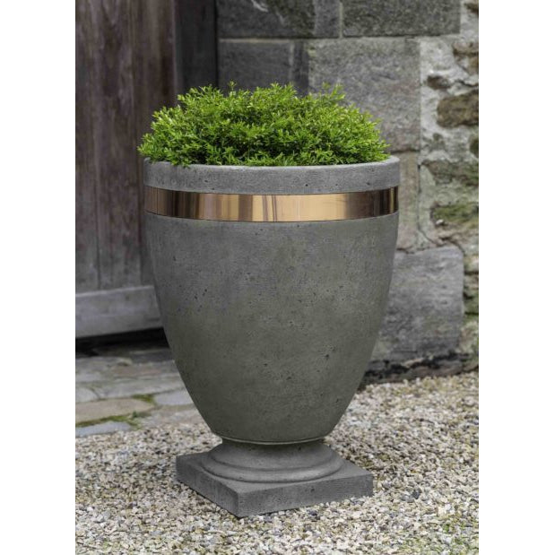 Moderne Tall Banded Planter - Alpine Stone (14 finishes available)