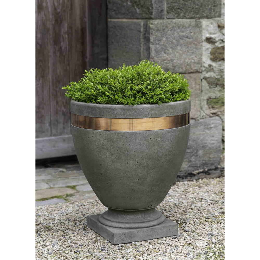 Moderne Banded Planter - Alpine Stone (14 finishes available)