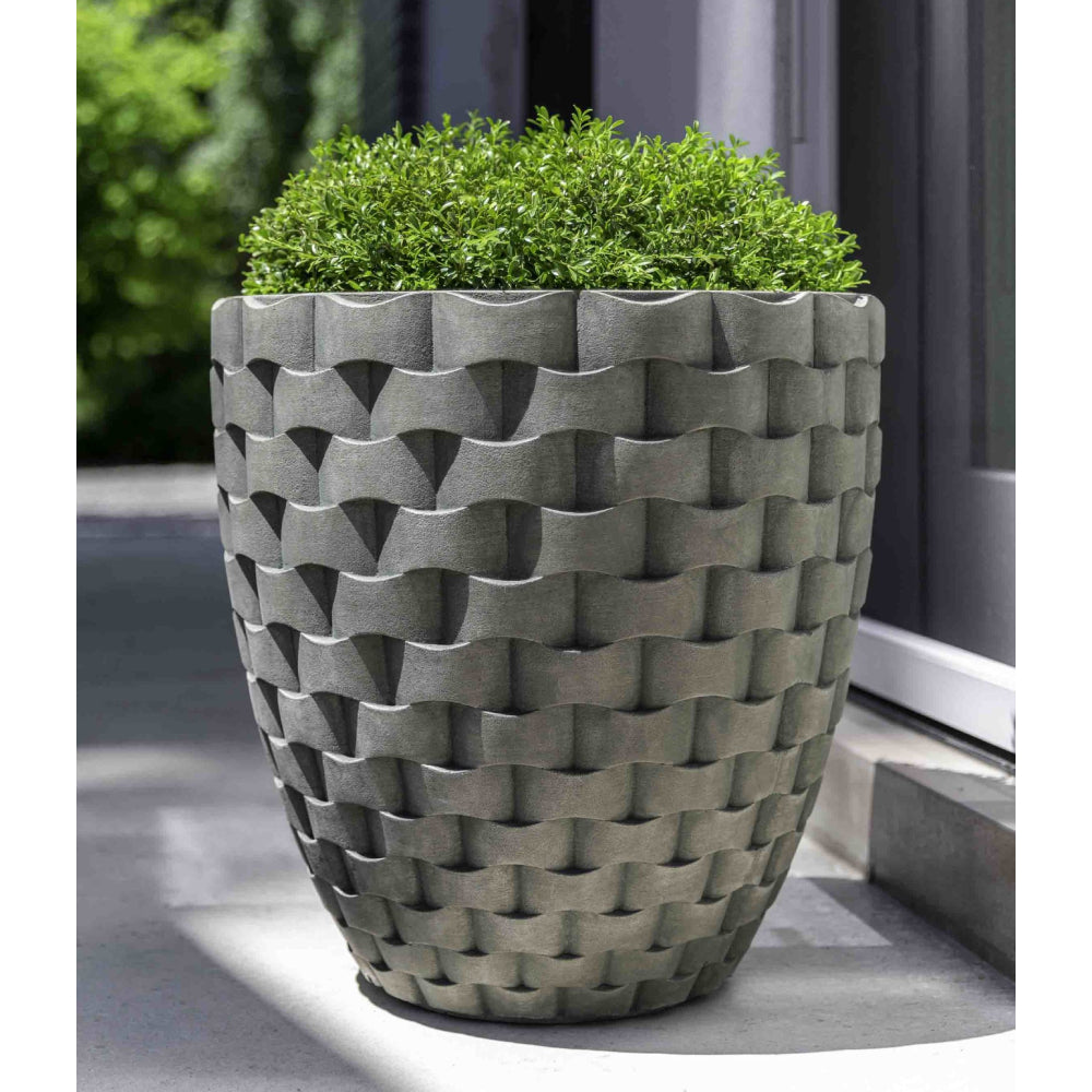 M Weave Tall Round Planter - Alpine Stone (14 finishes available)