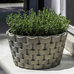 M Weave Low Round Planter - Alpine Stone (14 finishes available)
