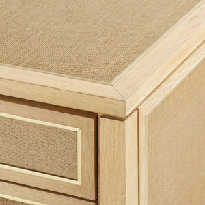 Bungalow 5 Paulina 3-Drawer Side Table, Natural Lacquered