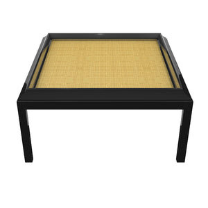 "Portland 48"" Square Lacquer Coffee Table – Black (Additional Colors Available)"