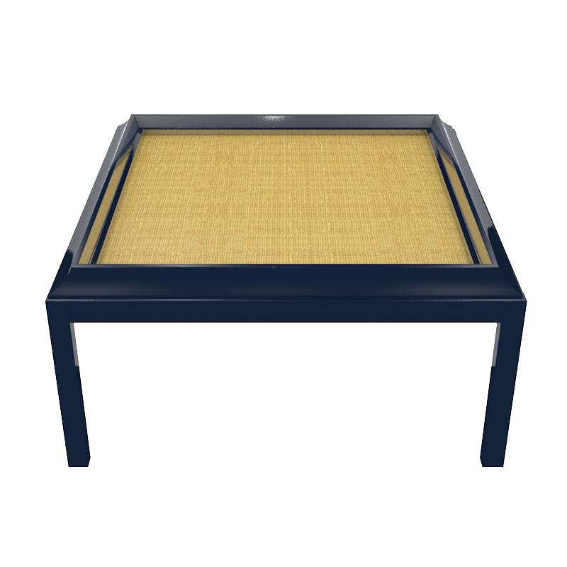 "Portland 48"" Square Lacquer Coffee Table – Navy Blue (19 colors available)"