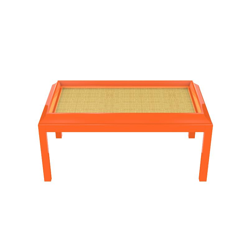 Portland Small Lacquer Coffee Table - Orange (Additional Colors Available)