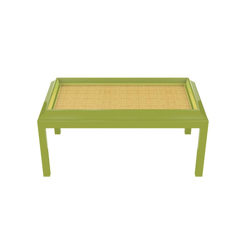 Portland Small Lacquer Coffee Table - Lime Green (Additional Colors Available)