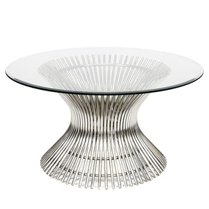 Worlds Away Hourglass Stainless Steel Cocktail Table – 3 Sizes