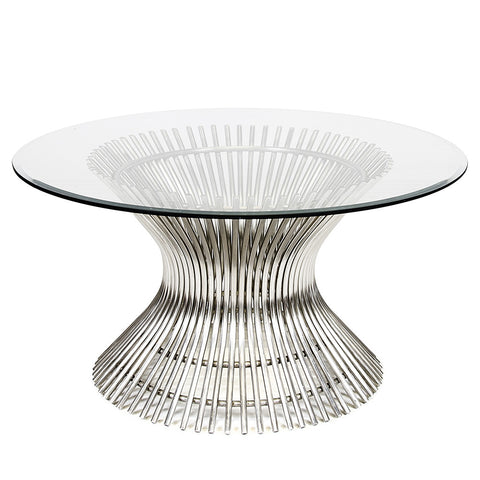 Hourglass Spokes Stainless Steel Cocktail Table – 3 Sizes