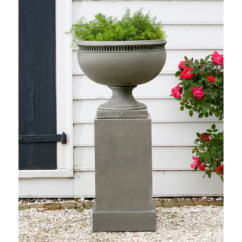 Classic Footed Stone Planter - Alpine Stone Patina