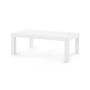Bungalow 5 Parsons Coffee Table, White