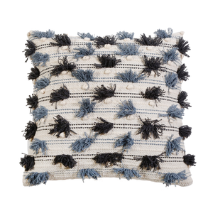 "POM POM AT HOME PIPPA HAND WOVEN PILLOW 20"" X 20"" WITH INSERT"