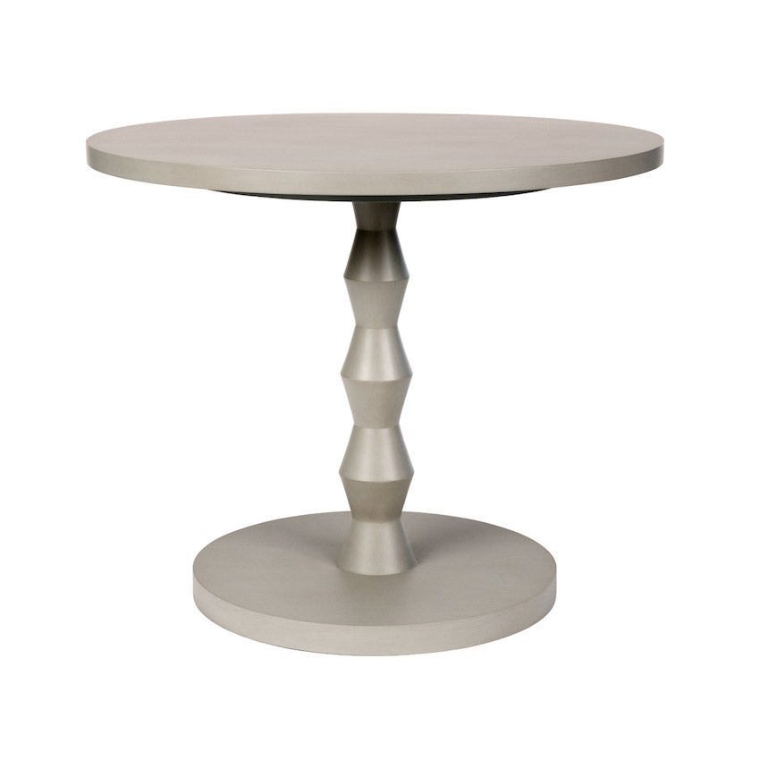 Poppy Modern Dinette Table with Angular Turned Pedestal Additional Finishes Available
