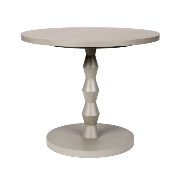 Poppy Modern Dinette Table with Angular Turned Pedestal – 25 Finish Options