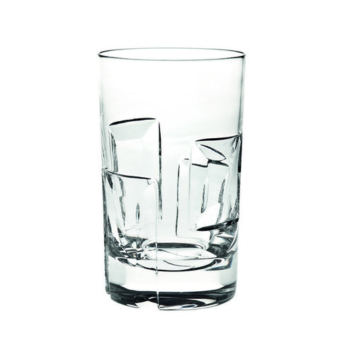 Portrait Graphic Crystal Highball –Set of 4