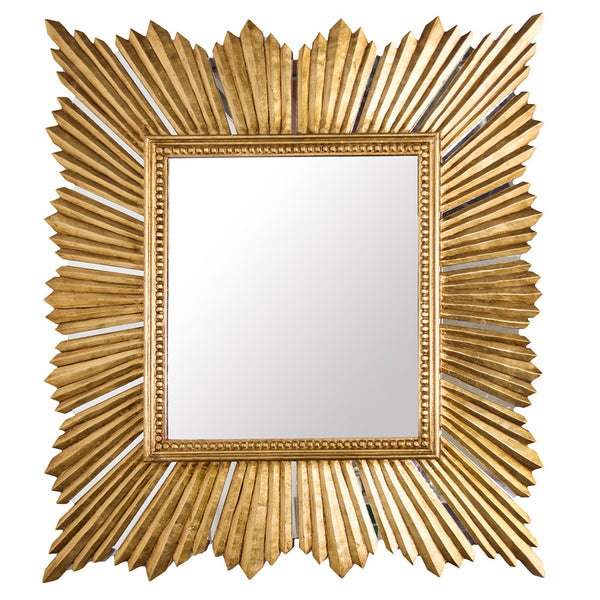 Worlds Away Extra Large Square Mirror – Gold Leaf