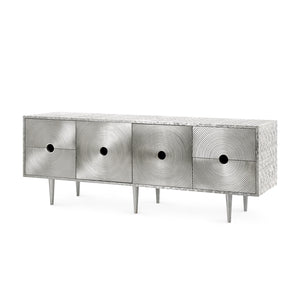 RANDERS 4-DRAWER & 2-DOOR CABINET, GERMAN SILVER