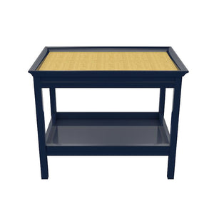 Rowayton Lacquer Side Table – Navy Blue (19 colors available)
