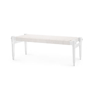 Bungalow 5 Rope Bench , White