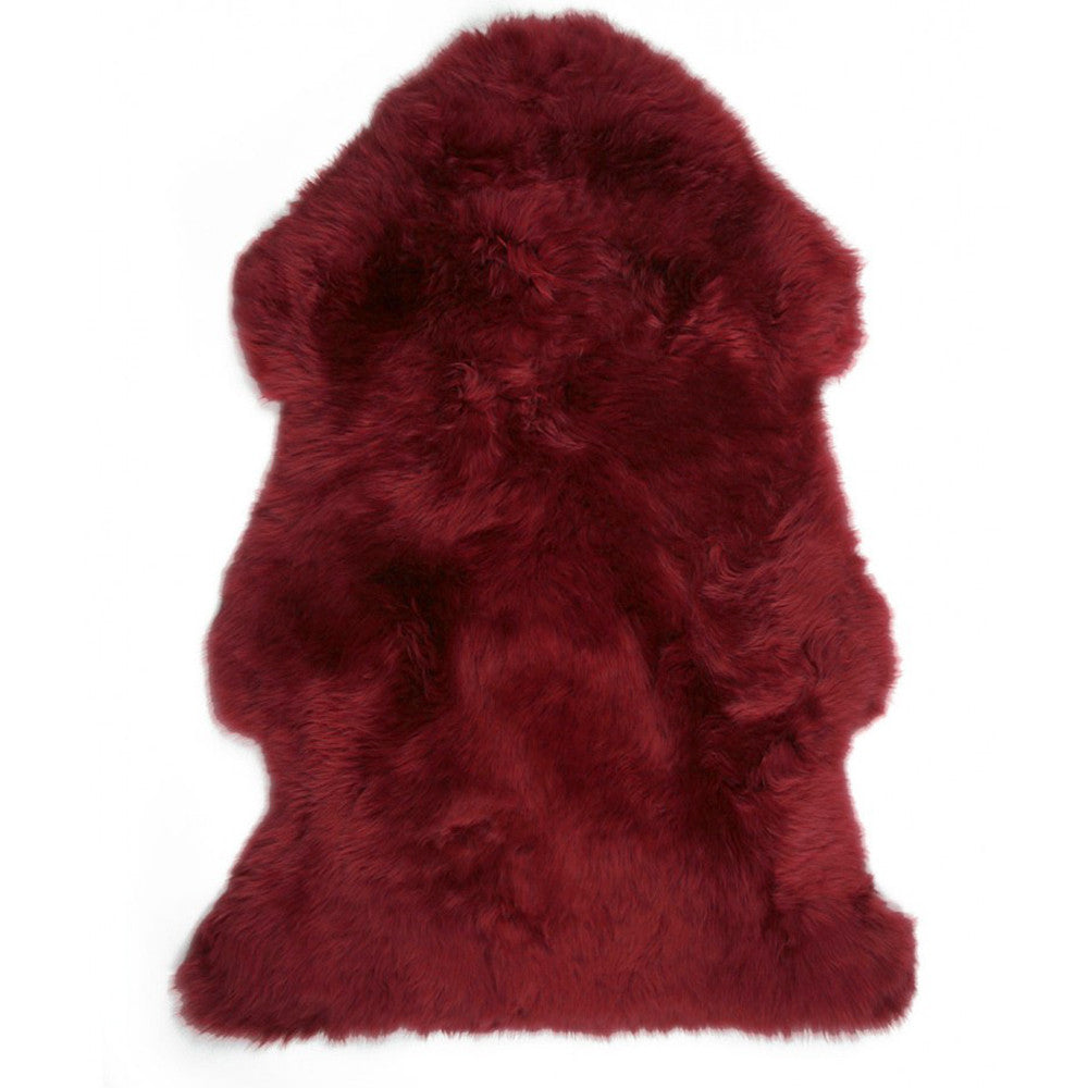 Luxe Red Premium Sheepskin Rug