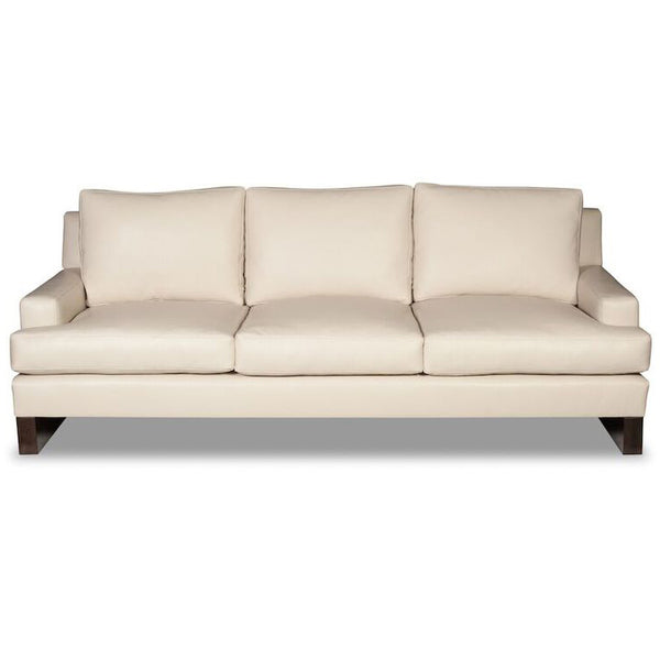 Modern Luxe Sofa -  Cream Leather (Other Colors Available)