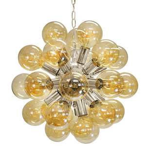 Worlds Away 27-Light Glass Globes Chandelier – Nickel