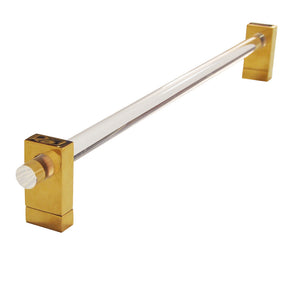 Worlds Away Minimal Towel Bar - Acrylic & Brass