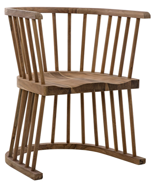 Noir Bolah Slatted Dining Chair - Teak