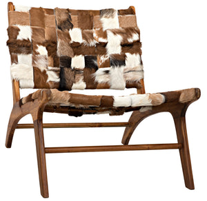 Noir Kamara Low Profile Chair - Cowhide