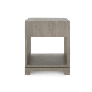 Bungalow 5 Stanford 1-Drawer Side Table, Taupe Gray