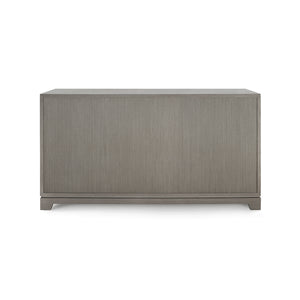 Bungalow 5 Stanford Extra Large 6-Drawer, Taupe Gray