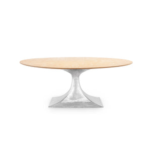 Bungalow 5 Stockholm Nickel Small Oval Dining Table Base
