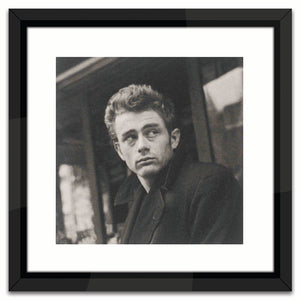 Worlds Away Black & White Lacquer-Framed Wall Art – James Dean 2