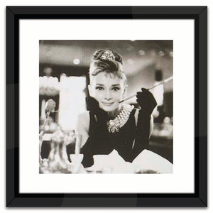 Worlds Away Black & White Lacquer-Framed Wall Art – Breakfast at Tiffany's