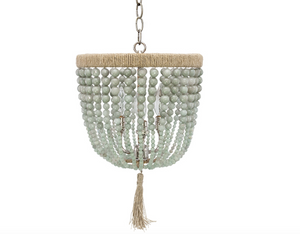 "12"" Malibu Beaded Chandelier – Cloud Jade Beads"