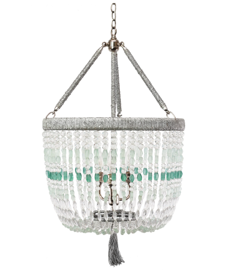"18"" Malibu Beaded Chandelier with Arms – Sea Strand Beads"