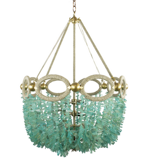 Fiona Beaded Chandelier – Ocean Chunky Quartz Beads