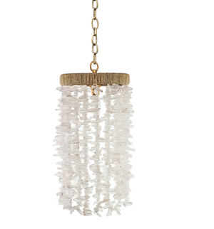 Gabby Beaded Pendant – Clear Chunky Quartz Beads