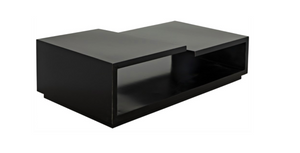 Noir Shift Coffee Table - Black Metal