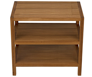 Noir SL9 Side Table - Gold Teak