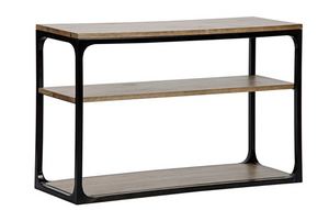 Noir Small Novie Walnut Console with Black Metal