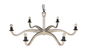 Noir Wave Chandelier - White Oak