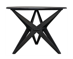 Noir Victor Dining Table - Charcoal Black
