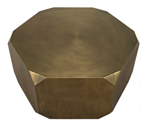 Noir Tytus Coffee Table - Aged Brass