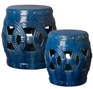 Large Eternity Garden Stool - Marine Blue