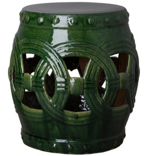 Large Eternity Garden Stool - Dark Green